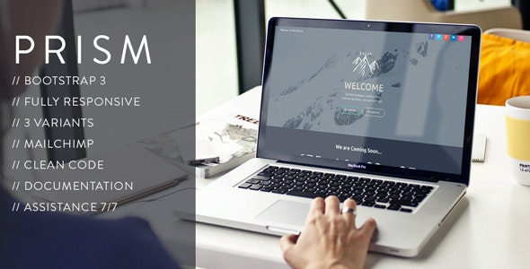 PRISM // Creative Coming Soon Template - Under Construction Specialty Pages
