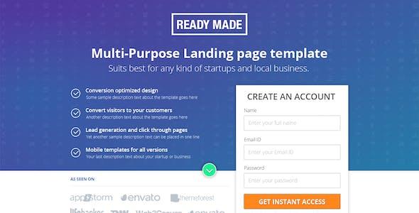 Multipurpose Landing Page Template - ReadyMade