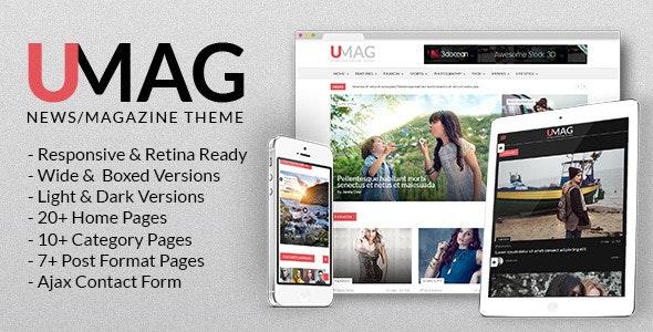 UMag - News, Magazine & Blog Template - Entertainment Site Templates