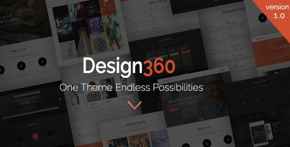 Design 360 - One & Multi Purpose WordPress Theme - Portfolio Creative