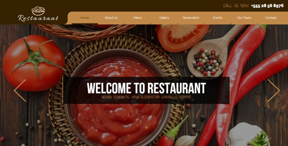 Restaurant / Pub / Bar / Caffee Template - Landing Muse Templates