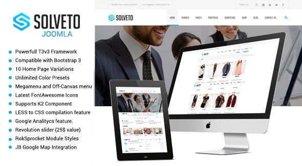 Solveto - Multipurpose Joomla Template - Business Corporate