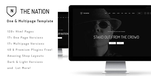 The Nation - Responsive One / Multi Page Template - Portfolio Creative