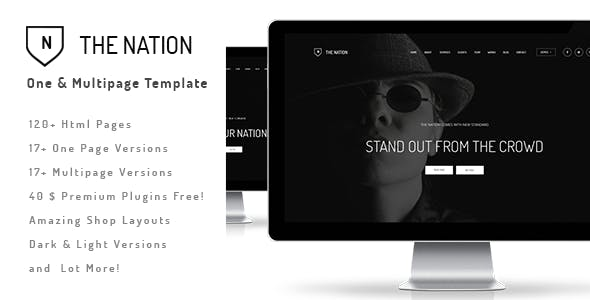 The Nation - Responsive One / Multi Page Template