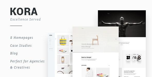 Kora - Portfolio Template for Agency & Freelancers - Portfolio Creative