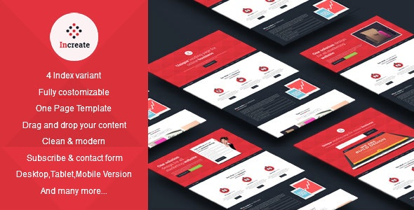 Increate - Onepage and Multipurpose Muse Template - Landing Muse Templates