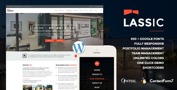 Lassic | WP Industrial Business Theme - Business Corporate