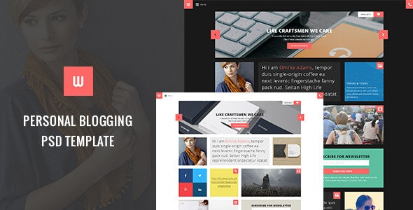 WOW - Personal Blogger PSD Template - Personal Photoshop