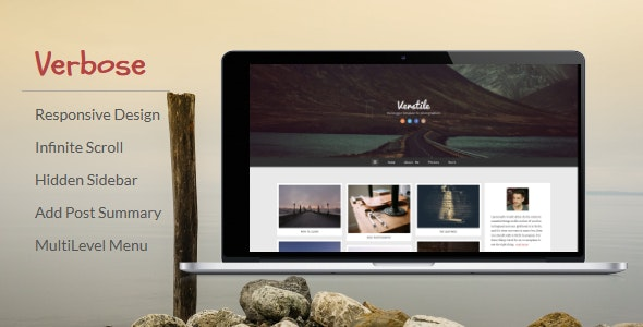 Verbose - Photography Blogger Template - Blogger Blogging