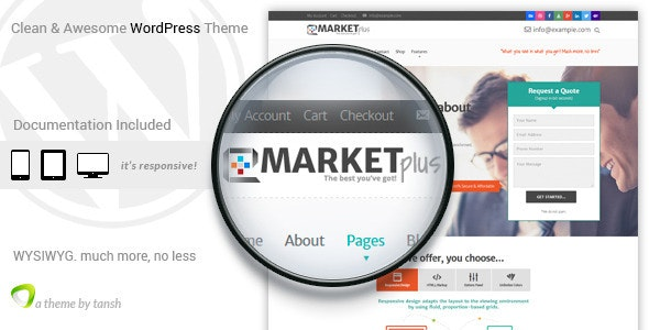 Marketplus Marketing Responsive WordPress Theme - Marketing Corporate