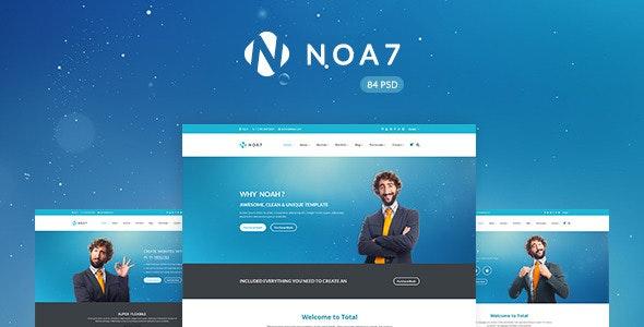 Noa7 - Multi Purpose PSD Template - Business Corporate