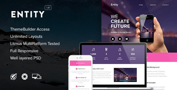 Entity - Responsive Email + Themebuilder Access - Newsletters Email Templates