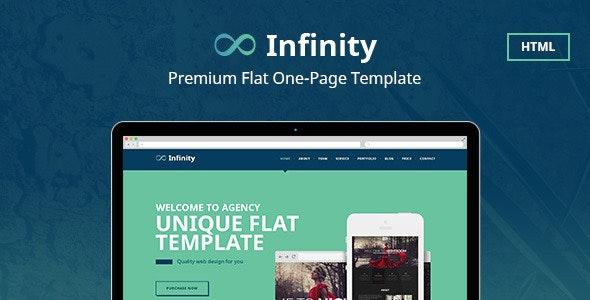 Infinity Flat One Page HTML Template - Portfolio Creative