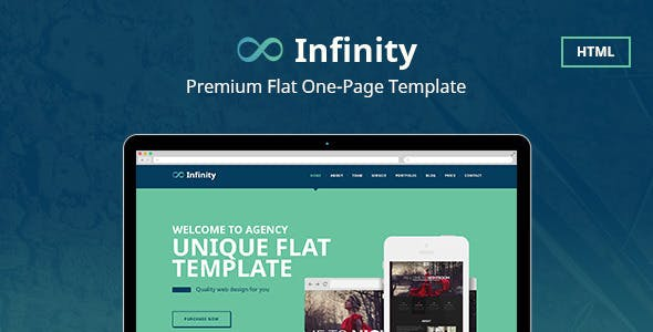 Infinity Flat One Page HTML Template