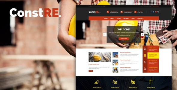 ConstRE - PSD For Construction - Business Corporate