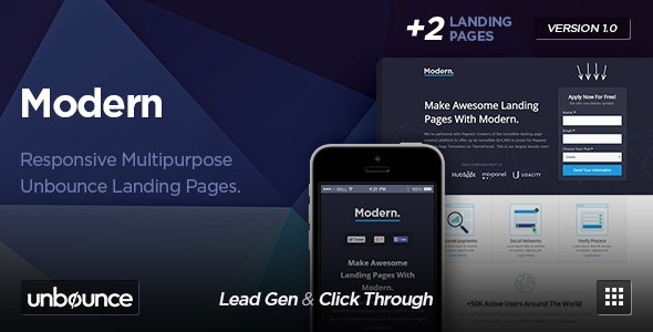Modern - Multipurpose Unbounce Template - Unbounce Landing Pages Marketing