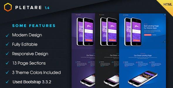 Pletare - Mobile Apps Landing Page Fullscreen