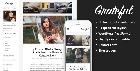 Grateful - Personal Blog WordPress Theme - Personal Blog / Magazine