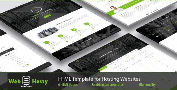 WebHosty - Hosting HTML Template - Hosting Technology