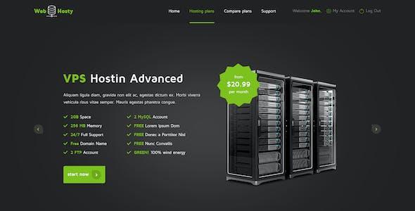WebHosty - Hosting HTML Template