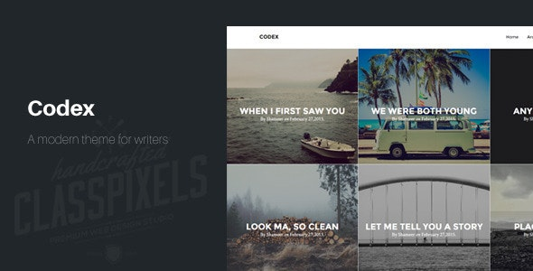 Codex Blogging theme to tell Stories - Ghost Themes Blogging