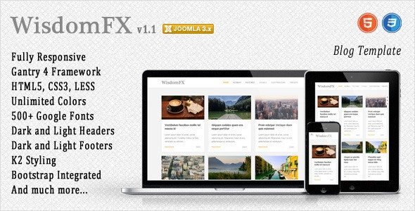 WisdomFX - Responsive Joomla Template - Blog / Magazine Joomla