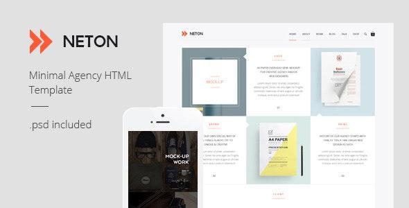 Neton – Minimal Agency HTML Template - Corporate Site Templates