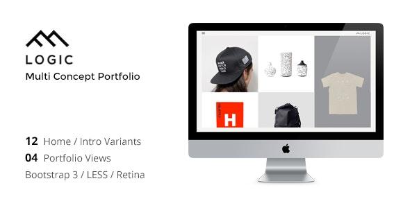 LOGIC - Minimal Multi-Concept Portfolio Template - Portfolio Creative