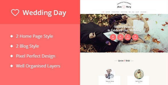 Weeding Day - A PSD Weeding Template - Miscellaneous Photoshop