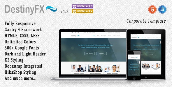 DestinyFX - Responsive Joomla Template - Corporate Joomla