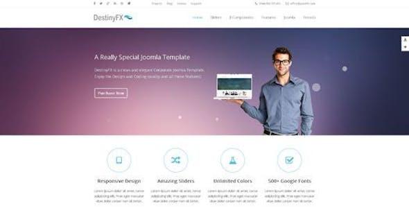 DestinyFX - Responsive Joomla Template