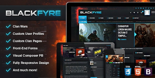 Blackfyre - Create Your Own Gaming Community - Blog / Magazine WordPress
