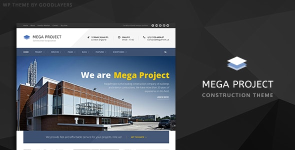 Mega Project - Construction WordPress - Business Corporate