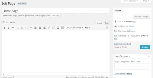 Mega Project - Construction WordPress