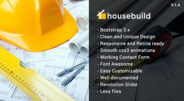 Housebuild - HTML Construction Business Template - Business Corporate