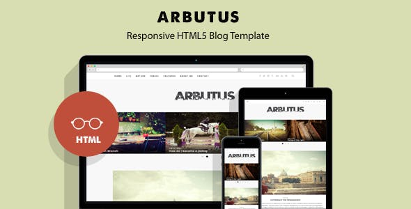 Arbutus - Responsive HTML5 Blog Template