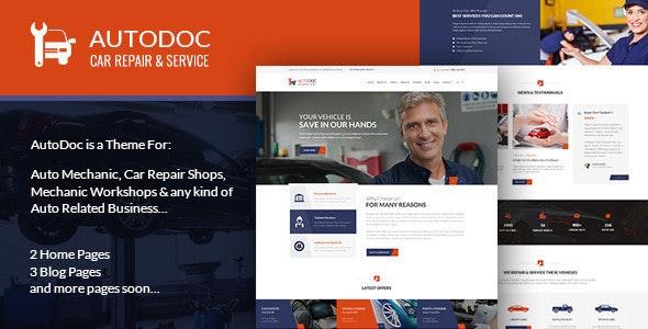 AutoDoc - PSD Template - Retail Photoshop