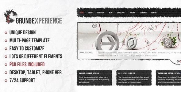 Grungexperience - Premium Muse Template - Creative Muse Templates