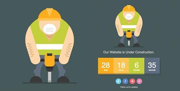 Jackhammer - Animated SVG Under Construction Page - Under Construction Specialty Pages