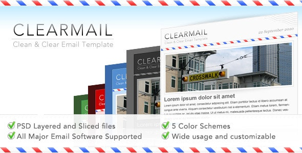 CLEARMAIL - Newsletter Premium Template - Newsletters Email Templates