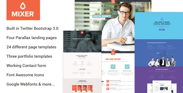 Mixer - Multipurpose HTML Template - Marketing Corporate