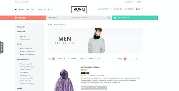 SNS Avan - Responsive Magento Theme