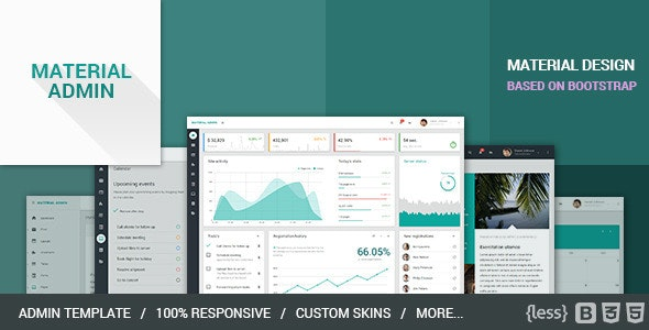 Material Admin - Bootstrap HTML5 App - Admin Templates Site Templates