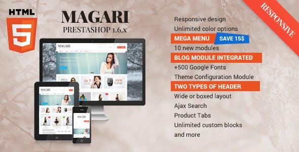 Magari - Responsive Prestashop Theme 1.6.x