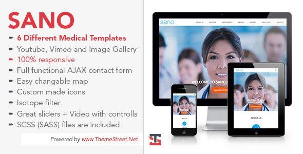 SANO - Multipurpose Medical Business Template - Business Corporate