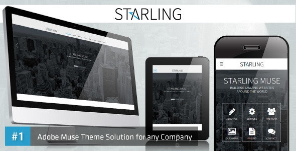 Starling | Multipurpose Adobe Muse Template - Corporate Muse Templates