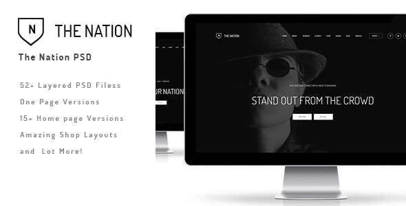 The Nation - Business and Creative PSD - Creative Photoshop