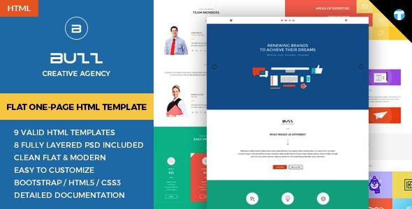 Buzz - Flat Responsive Onepage HTML Site Template - Portfolio Creative
