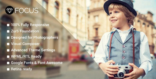 Focus - Photography WordPress Theme - Photography Creative