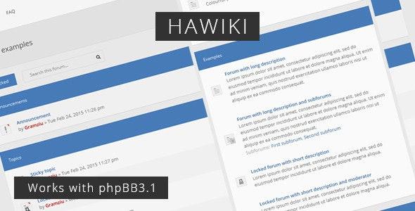 Hawiki - Forum Theme - PhpBB Forums